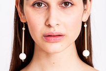 Designer earrings - handmade by Little Wonder / Little Wonder present the collection spring/summer 2017 with the draw-dropping editions Bellevue, Libra, Triangle, Norma, Hoop, Waterfall, Leaf and Button. Check out all jewelry from Little Wonder: https://www.krugstore.com/collections/little-wonder