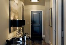 Black interior doors and light fitting, it's an effective way to add that extra atmosphere !