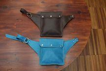 Leather Belt Bag/Hip Bag / by Sandra Borges