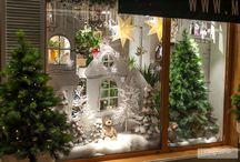 витрина новогодяя