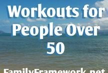 Workouts for People Over 50 / Working out regularly is SUPER important as we age. We need to build bone density, keep joints working well, improve cardiovascular health, burn fat, and tone muscles. These pins are ideas for your workouts. Be sure to seek medical approval for any new fitness routines.