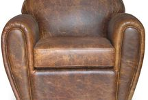 Old leather chair