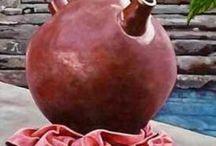Cántaros, vasijas, jarros, jarras, jarrones ,macetas, macetones y mas... / Son artesanales en su mayoría me encantan / by Mary Nishikawa