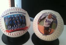 Softball Gifts / Look at these personalized softballs! Great gifts for coaches, players, tournament winners and business sponsors!