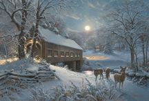 Snow Scenes / Great Art, most of which is available at Ashley's Art Gallery, Fuquay-Varina, NC 27526.
