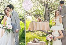 Wedding Inspiration : a study in Spring Pastels / Styled shoot in a blooming/blossoming Vermont apple orchard