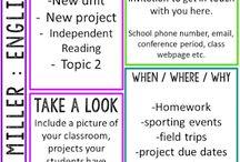 School ideas - newsletters