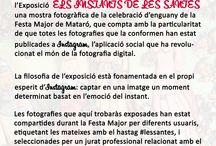 Els Instants de Les Santes / TOT MARC, Marcs a Mida organitza i presenta l'Exposició ELS INSTANTS DE LES SANTES, una mostra fotogràfica de la celebració d'enguany de la Festa Major de Mataró, que compta amb la particularitat de que totes les fotografies que la conformen han estat publicades a Instagram, l'aplicació social que ha revolucionat el món de la fotografia digital.