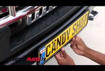 How to install a license plate.