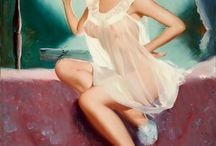 Pin Up poster girls / The art of pin up poster paintings