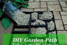 Maak jou eie tuinpotte en steppingstones