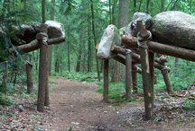 Kunstige archeologie 2008 / Natuurkunstroute in Schoonoord, Drenthe. www.natuurkunstdrenthe.nl