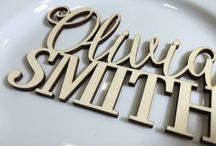 Calligraphy escort card with the Name and Surname for table seating arrangement