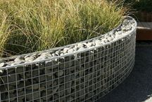 Gabion cage bathtub