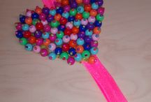 Balacas #Chiquitadas / Balacas elaboradas a mano... con perlas y mostazillas...