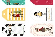 принты, бирки / printable gift tags & more...