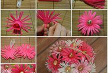 kwiaty z bibuly