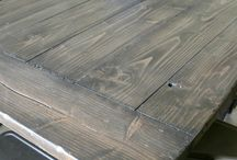 grey stained wood