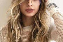 Mode Trend Brille , Helle Schwarze und Weiße Linsenbeine