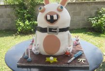 MY RABBITS INVASION CAKE
