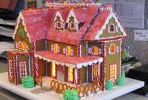 Gingerbread House Ideas / Gingerbread houses! / by Leigh Rondeau Jackett
