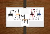 Sillas y Mesas para Restaurantes, Pub / Sillas Viena, tani, Capri, Silla Casino, Silla apilable en Asiento y Respaldo en Polipropileno Mesas Pub, Mesas Casino