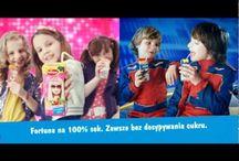 Fortuna - Barbie Hot Wheels / Kampania soków dla dzieci w opakowaniach inspirowanych zabawkami Mattel