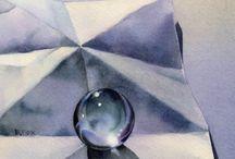 Paintings & drawings of light & shadow