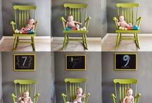 fotos bebê mensal
