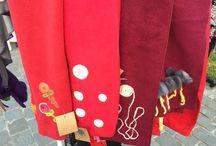 Bufandas de polar fileteadas / Bufandas fieltradas a mano por #ateliermanosalaobra