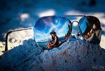 Mirrored sun glasses