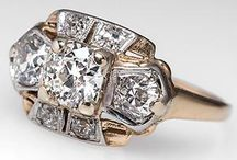 Victorian & Georgian jewelry / Antique Victorian era diamond and gold jewelry pieces. Beauty forever