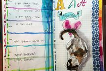 Art journals, Mixed media and Gelli
