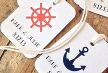 Mariage Bord de Mer / Inspiration Mariage marin eau bateau ancre cordage marinière pavillon plage coquillage