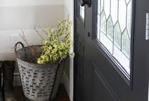 Front door! Colour, glass and styling.... I keep coming back to grey.... / First impressions and all that