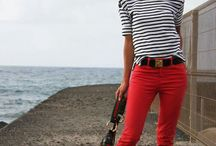 look pantalon rojo