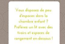 Astuces déco / Des conseils et des astuces pour aménager la #chambre de votre #enfant ou de votre #bébé.
