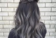 Dark-grey hair