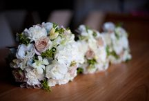 Wedding Flowers / Wedding bouquets and colors plus a few sapphire jewels to match your color theme.