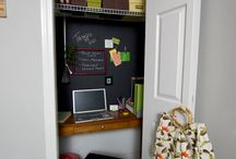 In the House ~ Cloffice / Closet + Office = Cloffice / by {Living Outside the Stacks}