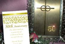 50th Fiftieth Gold Wedding Anniversary Ideas / 50 years of marriage is most definitely something to celebrate and be most proud of. Here are some nice ideas to help get the party started.