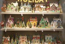 Vánoce - chaloupky, betlémy, vesnice