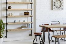 Industrial Reclaimed Shelving / Our bespoke industrial shelving units can be used in your living room, office, hallway, bedroom or as a striking room divider :D All handmade to measure!!