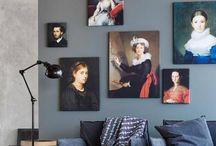 interieur decoratie / Foto's van kunstwerken die wij ter beschikking hebben gesteld aan woonbladen of bij beurzen #interieuridee