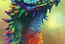 dragon/lizard art