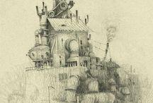 Sketchbook | Pencil / Sketchbook inspiration for some of my favorite artists.