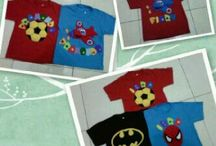 Kaos Flanel Lucu (FiizhNFelt Shirt Creation) / Many shirt made by felt and application of plastic waste
