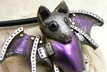 Bat-themed Jewelry / Jewelry designed with interesting or unusual interpretations of bats, as in the nocturnal and often misunderstood creatures essential to our ecosystem