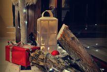 Święta, witryna sklepowa, dekoracja świąteczna / Przyszedł czas na zimową pogodę i zimowy klimat, przynajmniej to drugie jest możliwe do wykonania - bo z mrozem i śniegiem ciężej :) nasza świąteczna dekoracja w salonie obuwia w Centrum Handlowym Galeria Zielona.