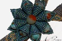 Bead Pattern - Flora ... - Beaded Necklace Brooch Ring Tutorial / Tutorial